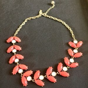 Beautiful Coral Statement Necklace